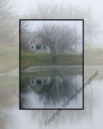 Barn Fog Reflection